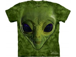 tričko, mimozemšťan, 3d, potisk, dětské, mountain