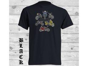 cerne tricko motorcycle