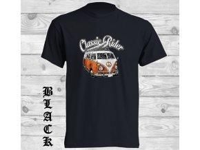 cerne tricko hipie VW autobus