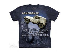 tričko-auto-Jeep-potisk-batikované-mountain