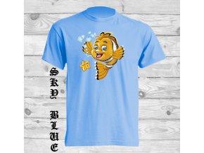 svetle modre tricko zlata rybka