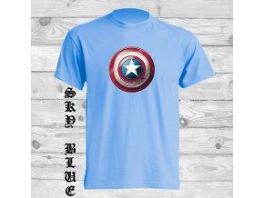 svetle modre tricko kapitan amerika
