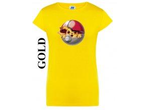 damske zlate zlute tricko Pikachu