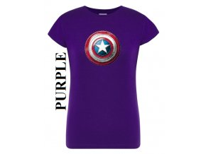 damske purpurove fialove tricko kapitan Amerika