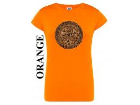 damske oranzove tricko slunecni kolo