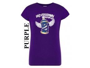 damske purpurove fialove tricko sprej