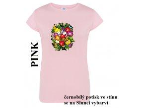 Dívčí a dámské sluneční tričko Ibišek