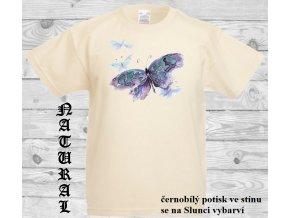 natural tricko fialovy motyl
