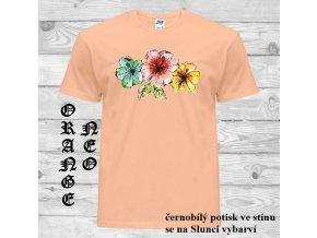 matne oranzove tricko kvety Ibisku