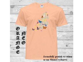 matne oranzove tricko motylci