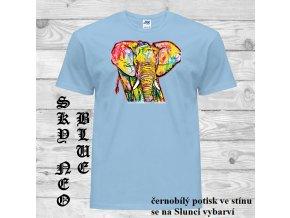 matne modre tricko slon