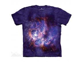 tričko, galaxie, hvězdy, potisk, batikované, mountain