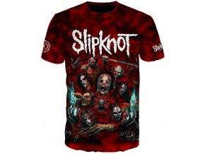 cervene tricko Slipknot
