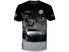 cerne tricko auto Alfa Romeo