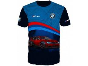 modre tricko auto BMW