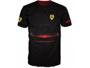 cerne tricko auto Ferrari