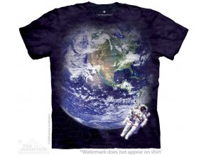 tričko astronaut země pánské potisk batikované