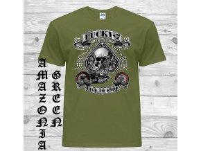 amazonsky zelene tricko biker lucky