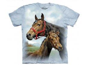 dětské tričko-kůň-hříbě-potisk-mountain