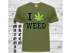 amazonsky zelene tricko miluji travu