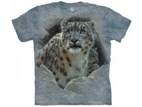 tričko-leopard-sníh-batikované-potisk-mountain
