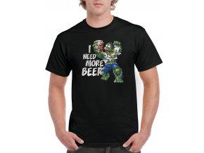 cerne tricko pivo Hulk