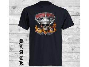 cerne tricko motor skull