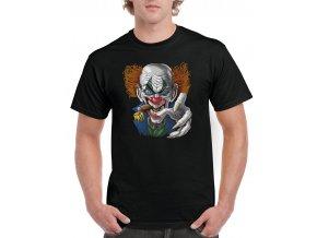 cerne tricko zly klaun