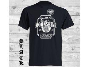 cerne tricko moonshine whisky