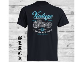 cerne biker tricko vintage