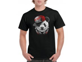 tricko cerne panda hip hop