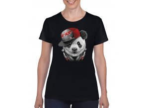 damske tricko cerne panda hip hop