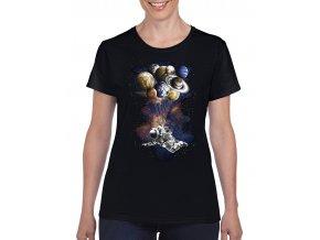 damske tricko cerne astronomie