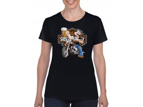 cerne damske tricko Pepek biker