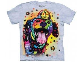 tričko-pes-záchranář-batikované-potisk-russo