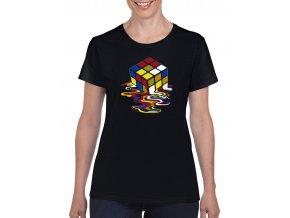 cerne damske tricko tajici Rubikova kostka