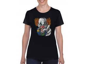 cerne damske tricko zly klaun