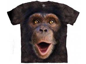 tričko-malý šimpanz-3d-batikované-potisk-opice
