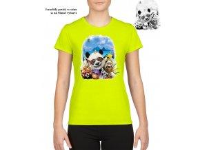 damske tricko panda zviratka