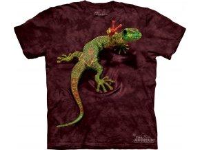 tričko, gekončík, hipie, vtipné, potisk, batikované