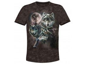 tricko kolaz s vlky