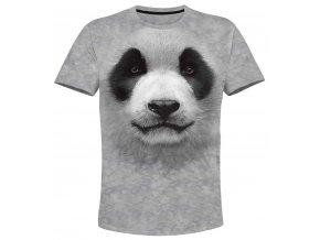 tricko bila panda 3d
