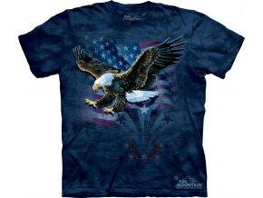 tričko-orel-vlajka-batikované-potisk-usa