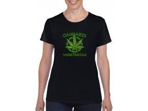 cerne damske tricko cannabis