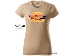 Dámské sluneční tričko Divocí mustangové