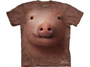 tričko-prase-3d-batikované-potisk-mountain