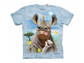 dětské tričko-vtipné-selfie-pštros-nosorožec-potisk