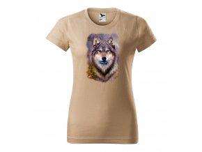 piskove damske tricko samotar vlk