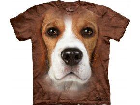 tričko-pes-bígl-3d-potisk-batikované