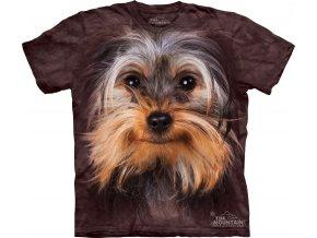 tričko, pes, jorkšír, potisk, batikované, 3d